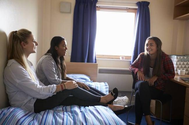 Host family having a conversation