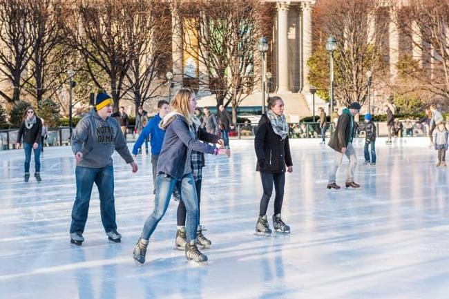 Ice skating in DC