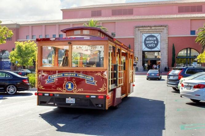 Fashion Island trolley in Newport California