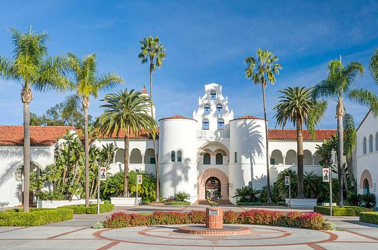 Hepner Hall on San Diego University campus