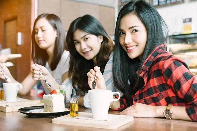 Students having coffee in homestay  accommodation