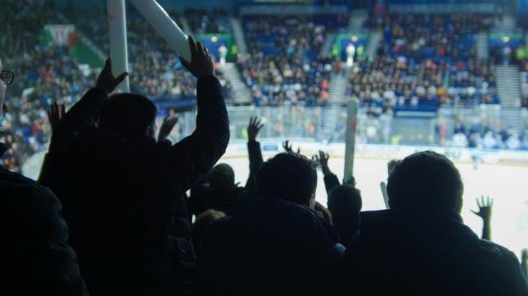 Ice hockey crowd in stadium