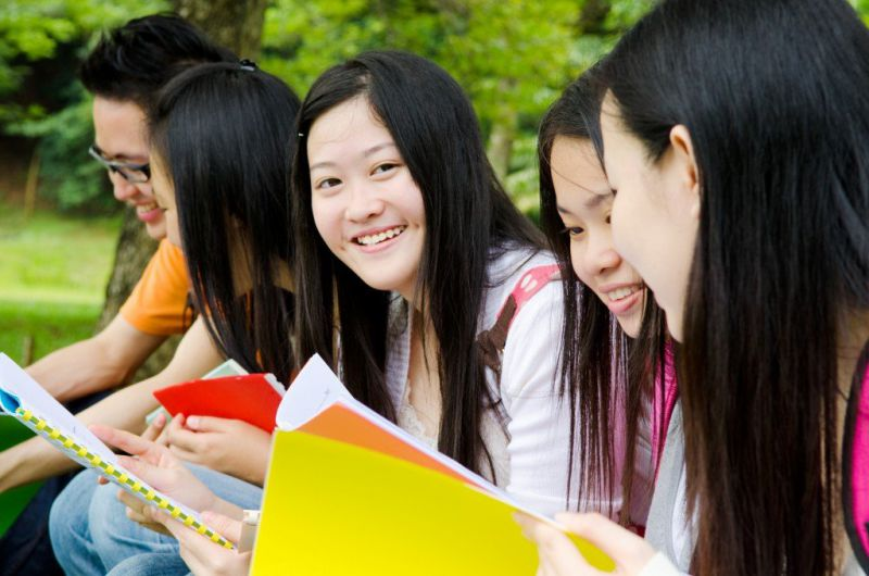 International Students Discussing
